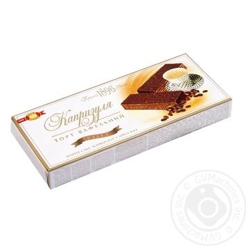 Торт ХБФ Бисквит-Шоколад Капризуля вафельный Капучино 260г - купить, цены на Фуршет - фото 1