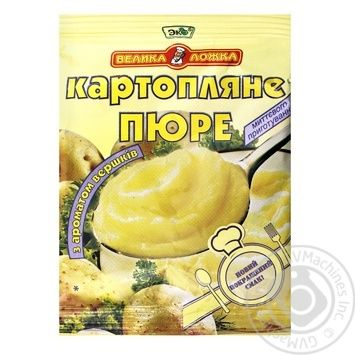 Пюре картофельное Эко Большая Ложка со сливками 30г - купить, цены на Ашан - фото 1