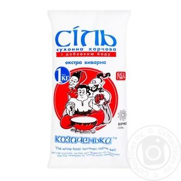 Kozachenky Extra Iodized Salt 1kg - buy, prices for MegaMarket - image 1