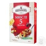 Novoukrayinka Muesli 5 Fruits 400g - buy, prices for Furshet - image 1