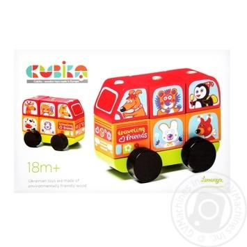 Автобус Cubika Веселые Звери Львенок 13197 - купить, цены на Фуршет - фото 1