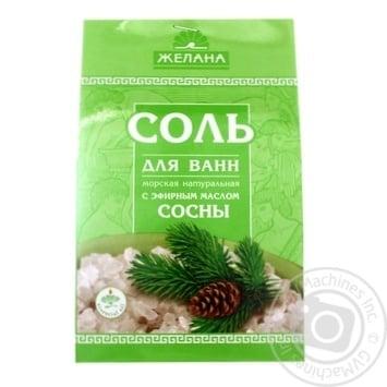 Сіль для ванни Желана Сосна Морська 500г - купити, ціни на МегаМаркет - фото 1
