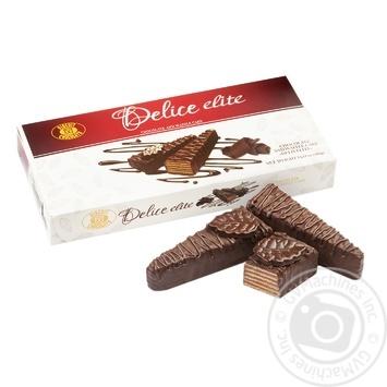 Торт ХБФ Делис элит шоколадно-вафельный 400г - купить, цены на Фуршет - фото 1