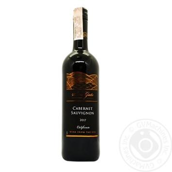 Вино Sun Gate Cabernet Sauvignon красное 12.5% 0.75л - купить, цены на Фуршет - фото 1
