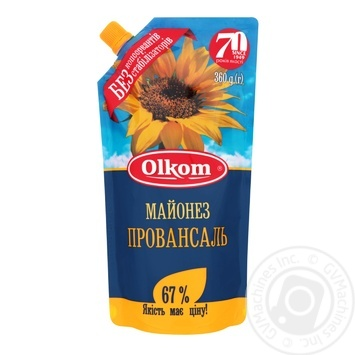 Olkom Provansal Mayonnaise 67% 360g - buy, prices for Novus - image 1