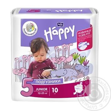 Подгузники Happy Junior 12-25 кг 10 шт Польша - купить, цены на Novus - фото 1