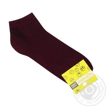 Womens socks bordeaux s.23-25 3033 - buy, prices for Furshet - image 1