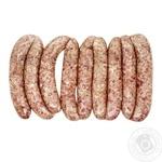 Calves sausage cooled