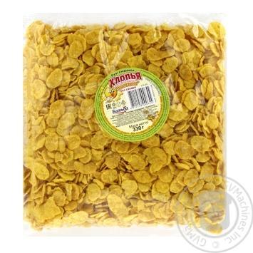Пластівці кукурудзяні Витьба Золотисті без цукру 330г
