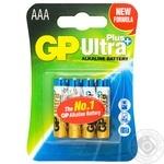GP Ultra Plus Batteries LR3 AA 4pc