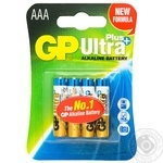 Батарейки GP ultra plus LR3 AA 4шт