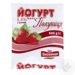 Йогурт Полуниця 2.5% ПЕТ Лукавиця 0.5л