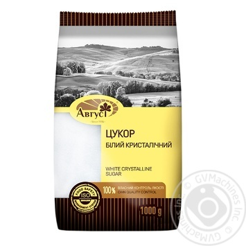 Granulated sugar Avhust white crystalline 1000g sachet - buy, prices for MegaMarket - image 1