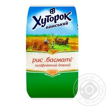 Рис Хуторок Панский Басмати 1кг - купить, цены на Novus - фото 1