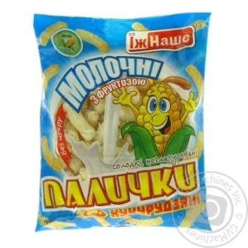 Палички кукурудзяні Їж Наше молочні з фруктозою 60г - купити, ціни на МегаМаркет - фото 2