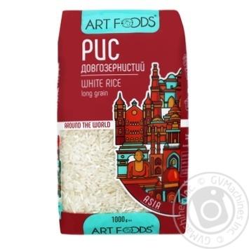 Рис Art Foods длиннозерный шлифованный 1кг