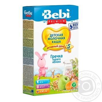 Каша детская Беби Премиум Гречка курага яблоко молочная сухая быстрорастворимая с 5 месяцев 200г - купить, цены на Novus - фото 1