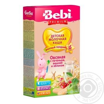 Каша молочна Bebi Premium для підвечірку вівсяна з печивом вишнею і яблуком 200г - купити, ціни на Novus - фото 1