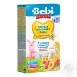 Bebi Premium For Children From 6 Months Five Cereals With Raspberry-Apricot Milk Pap 200g - buy, prices for Furshet - image 1