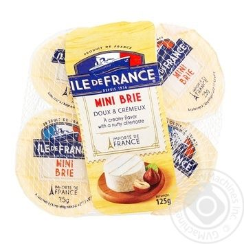 Сыр Ile de France Mini Brie мягкий 5x25г
