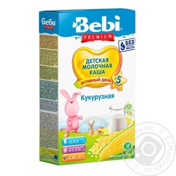 Каша Bebi Premium молочна кукурудзяна з 5 місяців 200г - купити, ціни на Novus - фото 1