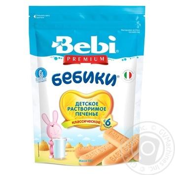 Печенье Bebi Premium Бебик классическое детское 115г - купить, цены на МегаМаркет - фото 1