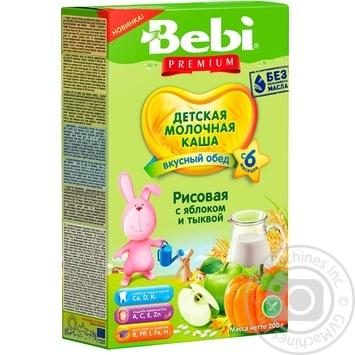 Каша молочная Bebi Premium рисовая с яблоком и тыквой 200г - купить, цены на Фуршет - фото 1