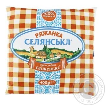 Selianska Ryazhanka 4% 400g - buy, prices for Furshet - image 1