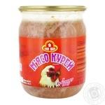 М'ясо Пан Іван курицы в собстевенном соку 500г - купить, цены на МегаМаркет - фото 1