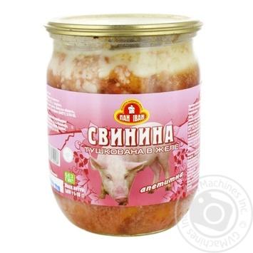 Свинина Пан Іван Апетитна в желе 500г - купити, ціни на МегаМаркет - фото 1