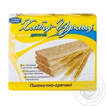 Хлібці Хлібці-Удальці пшенично-гречані дієтичні 100г - купити, ціни на МегаМаркет - фото 1