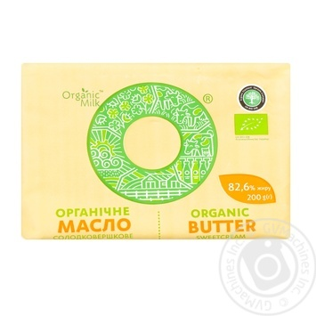 Organic Milk Sweet-Cream Extra Butter 200g - buy, prices for MegaMarket - image 1