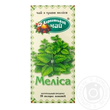 Трав'яний чай Карпатський Чай Меліса в пакетиках 20х1.35г - купити, ціни на МегаМаркет - фото 1