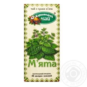 Травяной чай Карпатский Чай Мята в пакетиках 20х1.35г - купить, цены на Novus - фото 1