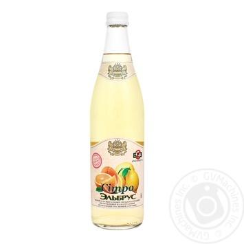 Напиток Эльбрус Ситро безалкогольный сильногазированный на натуральном вкусо-ароматическом растительном сырье стеклянная бутылка 500мл Украина - купить, цены на Фуршет - фото 1