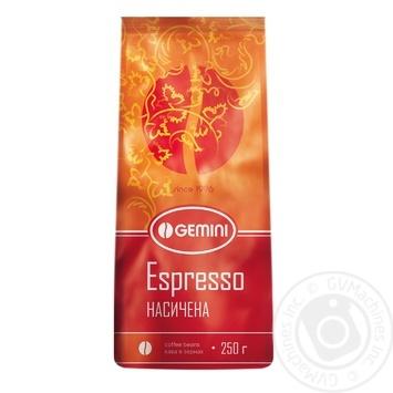 Coffee Gemini in grains 250g vacuum packing - buy, prices for Furshet - image 1