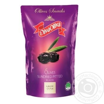 Маслины DivaOliva вяленые без косточки д/пак 85г - купить, цены на Фуршет - фото 1