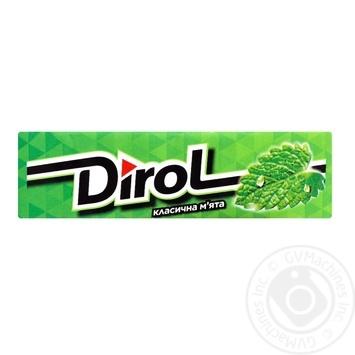 Жувальна гумка Dirol Класична м'ята 14г - купити, ціни на МегаМаркет - фото 1