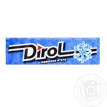 Жувальна гумка Dirol морозна м'ята 13.6г