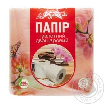 Furshet Toilet Paper 2-layer White 4pcs - buy, prices for Furshet - image 1