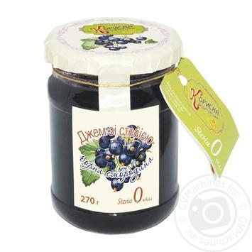 Джем Черная смородина со стевией 270г - купить, цены на Novus - фото 1