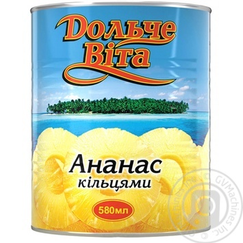 Pineapple slices Dolce vita in syrup 580ml - buy, prices for Novus - image 1