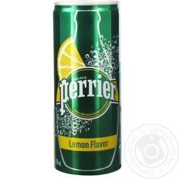 Напиток Perrier на основе природной минеральной газированной воды со вкусом лимона 250мл