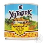 Vegetables corn Khutorok canned 425g can