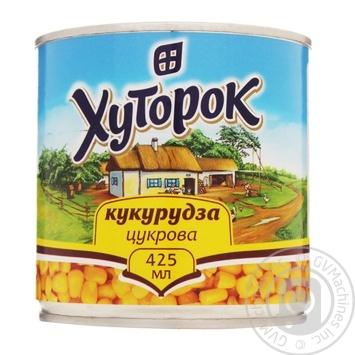 Кукуруза Хуторок сахарная 420г - купить, цены на Novus - фото 1