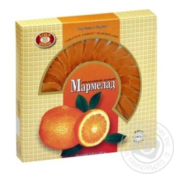 Мармелад Бисквит-Шоколад Апельсиновые дольки 265г - купить, цены на Таврия В - фото 1