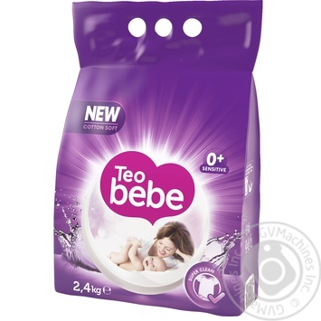 Пральний порошок автомат Teo Bebe Lavender 2,4кг - купити, ціни на Метро - фото 1