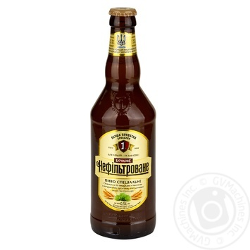 Пиво Перша приватна броварня Бочковое нефильтрованное светлое 4,6% 0,5л - купить, цены на Фуршет - фото 1
