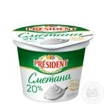 President Sour cream 20% 200g - buy, prices for Furshet - image 1
