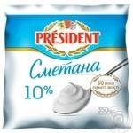 President Sour Cream 10% 350g
